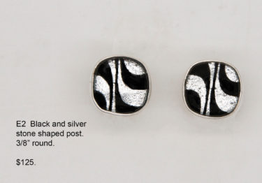 B2 Black and Silver Earring