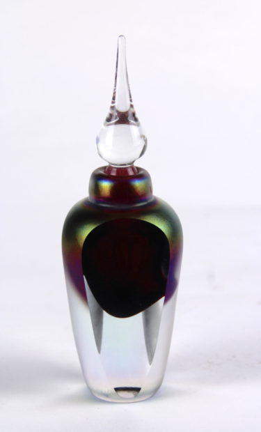 Faceted Ruby Perfume Bottle