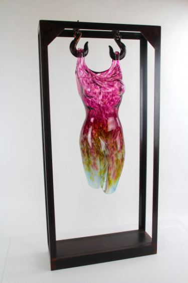 Hanging Figure in Speckled Red