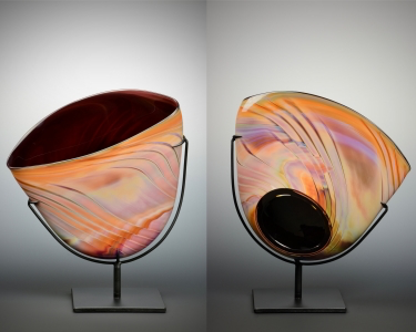Aurora Sculpture/Copper Basket #23