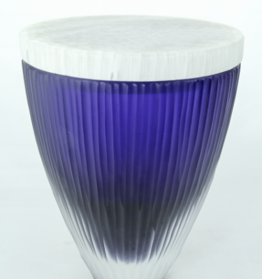 Lidded Vessel in Blue and White