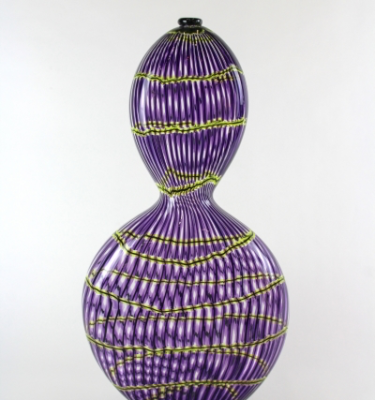 Purple Gourd with Green