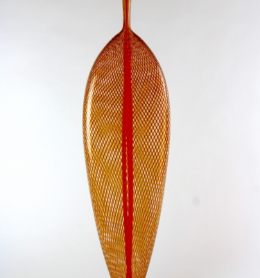 Amber and Red Standing Leaf