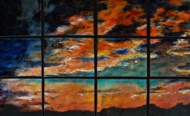 Sunset in 12 Panels